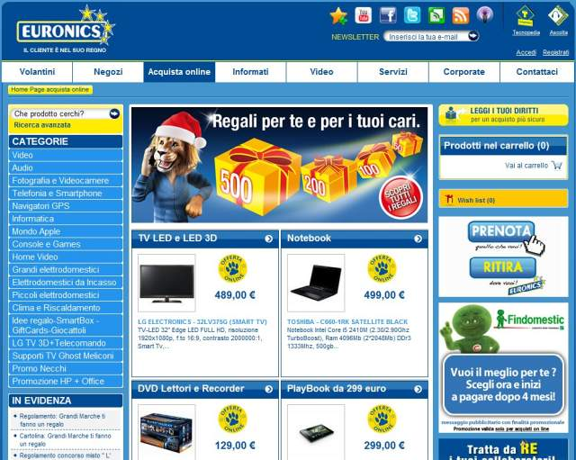 euronics.it homepage